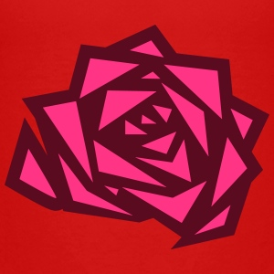 A geometric Rose Shirts - Teenage Premium T-Shirt