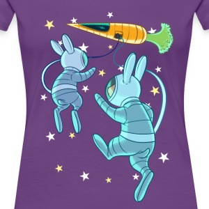 Rabbits In Space T-Shirts - Women's Premium T-Shirt