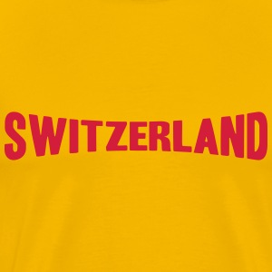 Switzerland Text Logo T-skjorter - Premium T-skjorte for menn