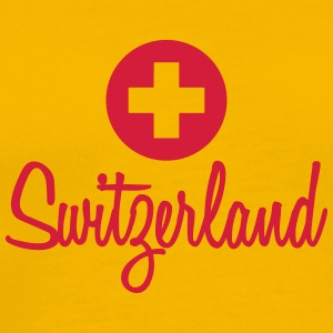 Switzerland Flag Design T-skjorter - Premium T-skjorte for menn