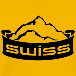 Swiss Mountain Banner Logo T-Shirts - Men's Premium T-Shirt
