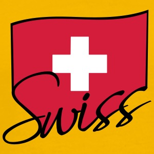 Swiss Flag Logo T-Shirts - Men's Premium T-Shirt