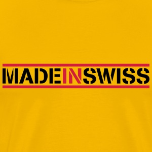 Made In Swiss Logo Design T-Shirts - Men's Premium T-Shirt