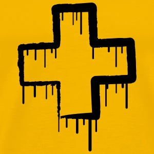 Cool Switzerland Graffiti Cross T-skjorter - Premium T-skjorte for menn