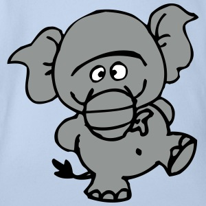 Smiling Little Elephant by Cheerful Madness!! Shirts - Organic Short-sleeved Baby Bodysuit
