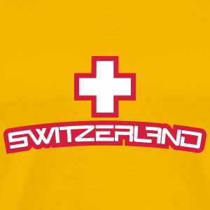 Cool Switzerland Design T-skjorter - Premium T-skjorte for menn