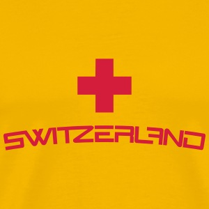 Cool Switzerland Cross Design T-Shirts - Men's Premium T-Shirt