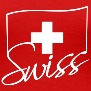Swiss Flag Logo T-Shirts - Frauen Premium T-Shirt