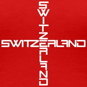 Switzerland Cross Design T-skjorter - Premium T-skjorte for kvinner
