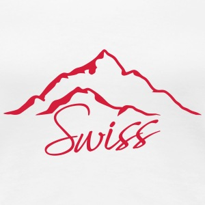 Swiss Mountain T-Shirts - Frauen Premium T-Shirt