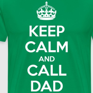 Keep Calm and Call Dad (dark) T-skjorter - Premium T-skjorte for menn