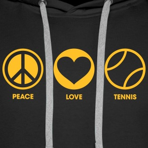 Peace Love Tennis Sweat-shirts - Sweat-shirt à capuche Premium pour hommes