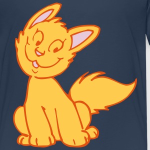 Smiling Cartoon Kitten by Cheerful Madness!! Shirts - Kids' Premium T-Shirt