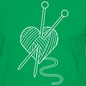 i love knitting yarn heart tricot crochet Tee shirts - T-shirt contraste Homme