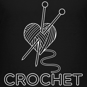Sort i love crochet T-shirts - Teenager premium T-shirt
