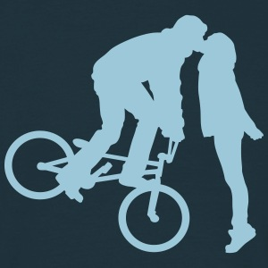 BMX kiss T-shirts - Mannen T-shirt