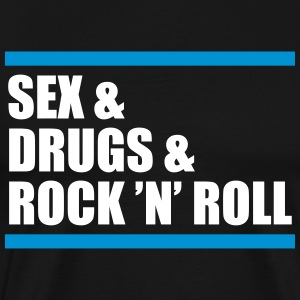 sex & drugs & rock 'n' roll - Männer Premium T-Shirt