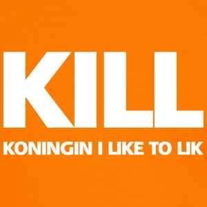KILL: Koningin I like to lik T-shirts - Mannen contrastshirt