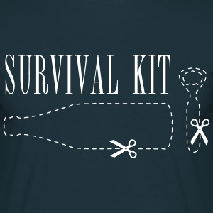 Survival Kid beer bottle  T-Shirts - Men's T-Shirt