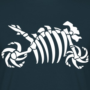 Fossil skeleton motorcycle  T-Shirts - Men's T-Shirt