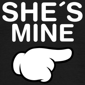 She´s Mine (Comic Hand) T-skjorter - T-skjorte for menn