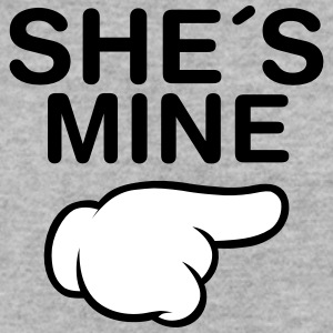 She´s Mine (Comic Hand) Hoodies & Sweatshirts - Men's Sweatshirt