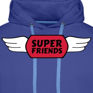 super friends super venner Gensere - Premium hettegenser for menn