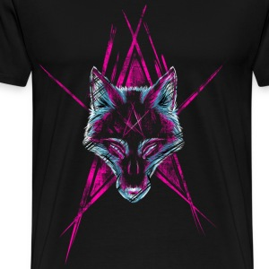 Black Wolf Star T-Shirts - Men's Premium T-Shirt