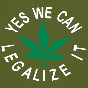 yes we can legalise it cannabis blatt - Männer Bio-T-Shirt