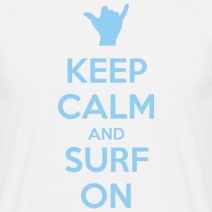 Keep Calm and Surf on Tee shirts - T-shirt Homme