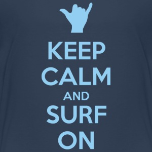 Keep Calm and Surf on dark t-shirt - Kids' Premium T-Shirt