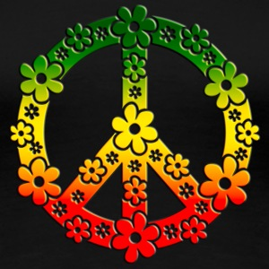 Reggae Peace Symbol Love Freedom Flower Summer T-Shirts - Frauen Premium T-Shirt