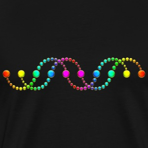 DNA helix crop circle serpent rainbow frequency T-Shirts - Men's Premium T-Shirt