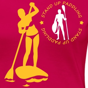 stand up paddling T-shirts - Dame premium T-shirt