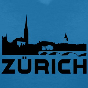 Zurich T-Shirts - Women's V-Neck T-Shirt