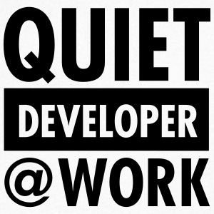 Quiet, Developer At Work T-shirts - Herre T-shirt med V-udskæring