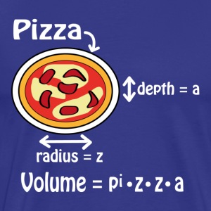 Pizza for geeks and nerds T-Shirts - Männer Premium T-Shirt