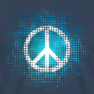 Peace Symbol Love Harmony Freedom Dots Summer T-shirts - Mannen Premium T-shirt