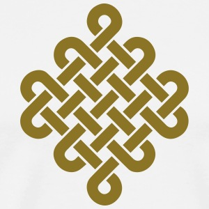 Infinity Buddhism Tibetan endless knot Celtic T-Shirts - Men's Premium T-Shirt
