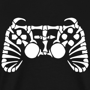 Play Station Controller Fossil Skelett T-shirts - Herre premium T-shirt