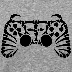 Play Station Controller fossiel skelet T-shirts - Mannen Premium T-shirt