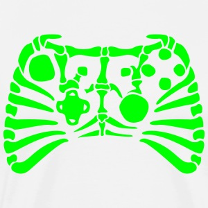 X-Box Controller Fossil skelet T-shirts - Herre premium T-shirt
