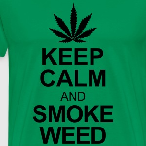 keep calm and smoke weed T-shirts - Mannen Premium T-shirt