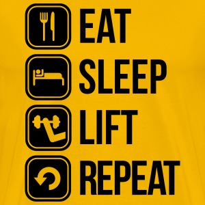 eat sleep lift repeat T-shirts - Mannen Premium T-shirt