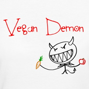 Vegan Demon T-Shirts - Frauen Bio-T-Shirt