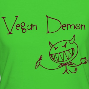 Vegan Demon Vector T-Shirts - Frauen Bio-T-Shirt