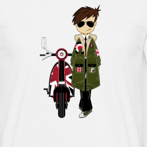 Mod Boy & Retro Scooter - Men's T-Shirt