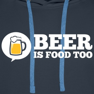 Funny love bière Beer is food too alcool party Sweat-shirts - Sweat-shirt à capuche Premium pour hommes