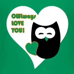 owlways love you T-shirts - Teenager premium T-shirt