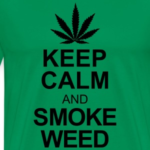 keep calm and smoke weed T-Shirts - Männer Premium T-Shirt